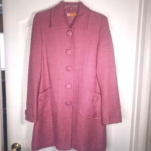 Tulle Anthropologie Pink Knit Overcoat